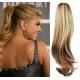 Clip in příčesek culík/cop 100% lidské vlasy 60cm vlnitý - přírodní / světlejší blond