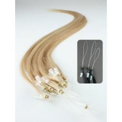 Vlasy pro metodu Micro Ring / Easy Loop / Easy Ring / Micro Loop 40cm – přírodní blond