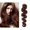 Vlnité vlasy Micro Ring / Easy Loop / Easy Ring / Micro Loop 50cm – středně hnědé