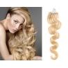 Vlnité vlasy Micro Ring / Easy Loop / Easy Ring / Micro Loop 60cm – nejsvětlejší blond