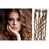 Kudrnaté vlasy Micro Ring / Easy Loop / Easy Ring / Micro Loop 50cm – světle hnědé