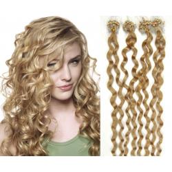 Kudrnaté vlasy Micro Ring / Easy Loop / Easy Ring / Micro Loop 50cm – přírodní blond