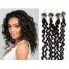 Kudrnaté vlasy Micro Ring / Easy Loop / Easy Ring / Micro Loop 60cm – přírodní černé