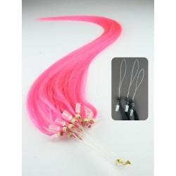 Vlasy pro metodu Micro Ring / Easy Loop / Easy Ring / Micro Loop 60cm – růžová