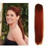 Clip in příčesek culík/cop 100% lidské vlasy 50cm - měděná